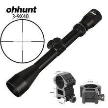 Load image into Gallery viewer, ohhunt 3-9X40 Hunting Optics Rifle Scope Rangefinder or Mil Dot Reticle Crossbow Shooting with Mount Rings