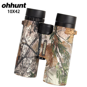 ohhunt B2 10X42 Camouflage Hunting Binoculars Waterproof Fogproof Telescope Wide-angle Bright Optics Camping Hiking Binocular