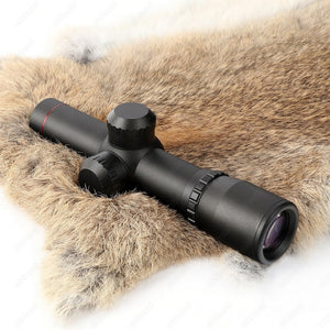 ohhunt 4.5x20 1 inch Compact Hunting Rifle Scope Tactical Optical Sight P4 Glass Etched Reticle Riflescope Flip-open Lens Caps