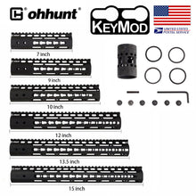Load image into Gallery viewer, ohhunt Slim Style AR15 Free Float Keymod Handguard with Steel Barrel Nut