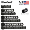 "ohhunt Tactical AR15 Free Float M-Lok Handguard 7"" 9"" 10"" 12"" 13.5"" 15"" 17'' Picatinny Rail with Steel Barrel Nut for Scope"
