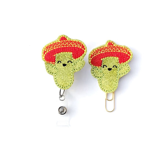 Cactus Badge Reel, Planner Clip, ID Holder, Magnet, Brooch Pin,