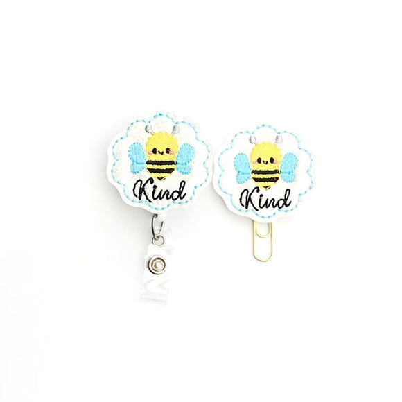 Be Kind Badge Reel, Planner Clip, ID Holder, Magnet, Brooch Pin,