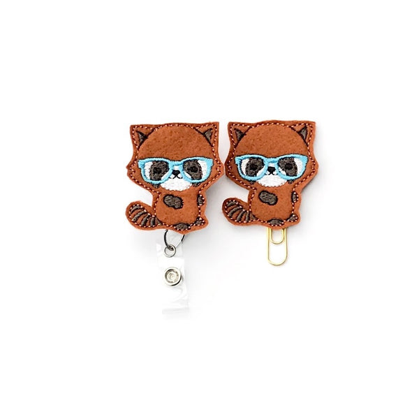 Red Panda Badge Reel, Planner Clip, ID Holder, Magnet, Brooch Pin,