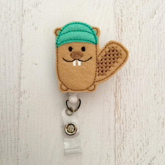 Beaver Badge Reel, Planner Clip, ID Holder, Magnet, Brooch Pin, (1007)