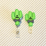 Cactus Badge Reel, Planner Clip, ID Holder, Magnet, Brooch Pin, (167)