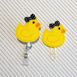 Rubber Ducky Duck  Badge Reel, Planner Clip, ID Holder, Magnet, Brooch Pin,(529)