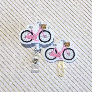 Bicycle Bike Badge Reel, Planner Clip, ID Holder, Magnet, Brooch Pin,  (250)