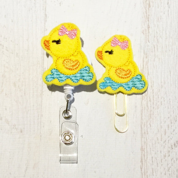 Duck Badge Reel, Planner Clip, ID Holder, Magnet, Brooch Pin, (38)