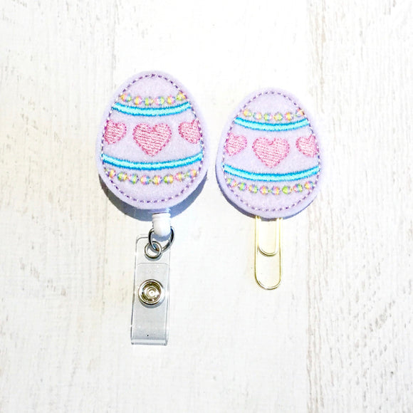 Easter Egg Badge Reel, Planner Clip, ID Holder, Magnet, Brooch Pin, (98)