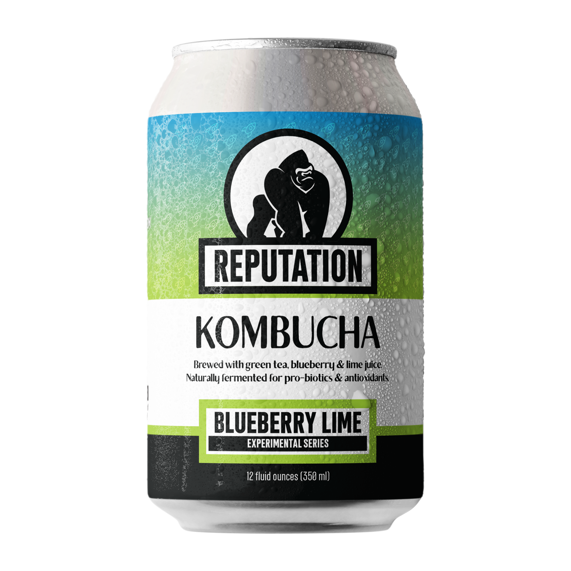 Blueberry Lime Kombucha