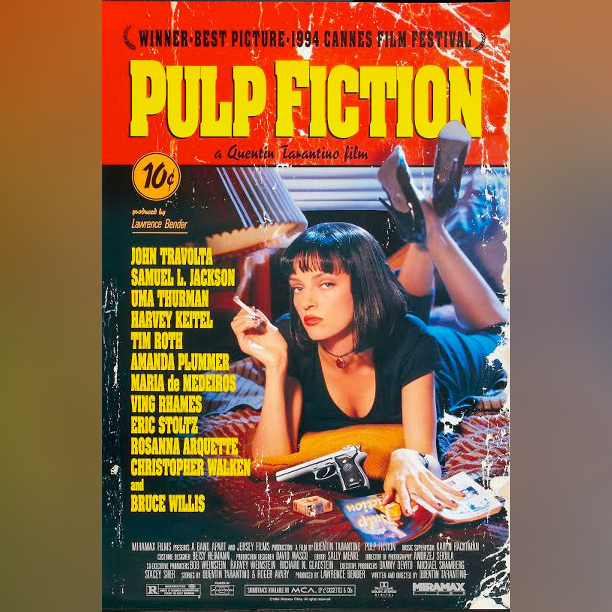 Art Details about F 20 PULP FICTION MOVIE Fabric Poster Print ...