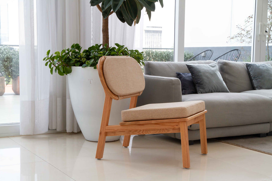 Arcos Lounge Chair- Natural