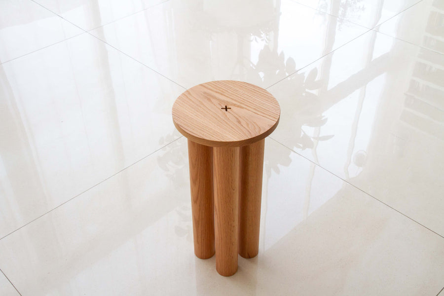 Pillars- Side Table- Wood