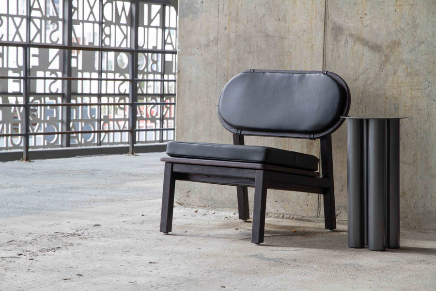 Arcos Lounge Chair- Black