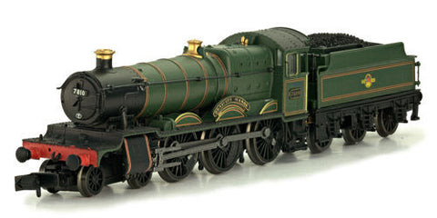 Dapol 2S-001-000D Draycott Manor 7810 BR Lined Green Late Crest (DCC-Fitted)