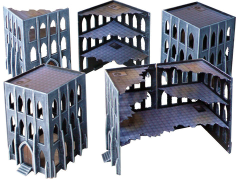 Pack of 16 Gothic Building Walls