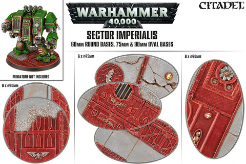 Sector Imperialis: 60mm Round, 75 and 90mm Oval Bases