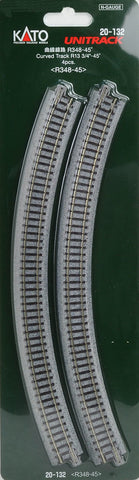20-132  Ground level Radius 348mm 45 Deg Curved Track