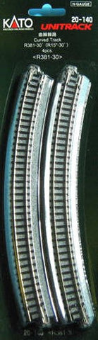 20-140   Ground Level Radius 381mm Curved Track 30 Deg.(4)