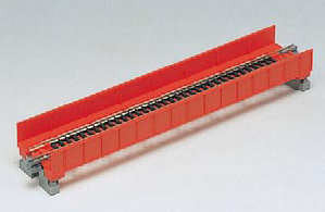 20-452  Single Track plate girder bridge 186mm  (Grey)