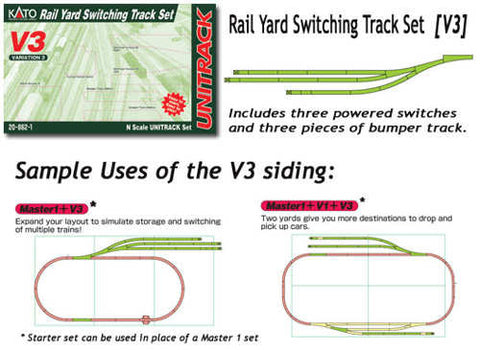 Kato 20-862  V3 Rail Yard Switching Set N scale