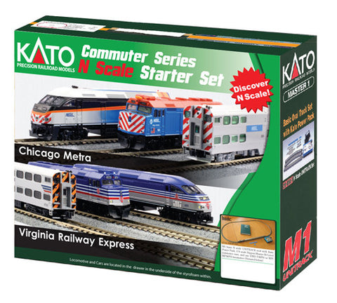 Kato (USA) 106-0033 VRE MP36PH Commuter Starter Set