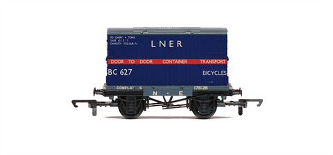 R6574 LNER Conflat Wagon & Container