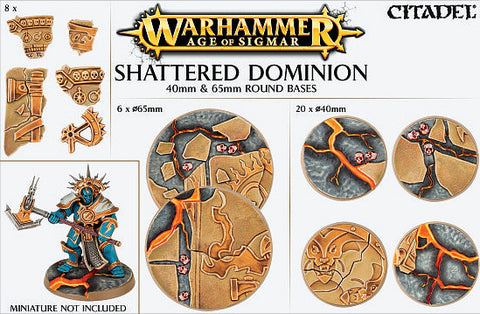Age of Sigmar: Shattered Dominion: 40 & 65mm Round Bases
