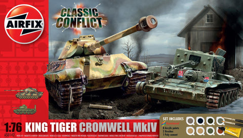 King Tiger Tank and Cromwell Tank Classic Conflict Gift Set 1:76 - A50142