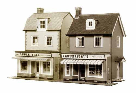 SQB22  2 Country Town Shops OO scale