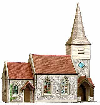 SQB29  The Country Church OO scale