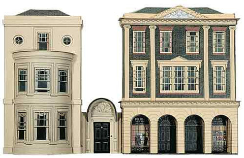 SQC4  Regency Period Shops and House OO scale