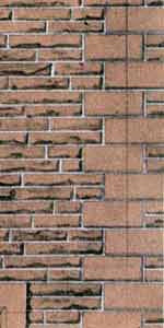 SQD11  Red sandstone walling OO scale