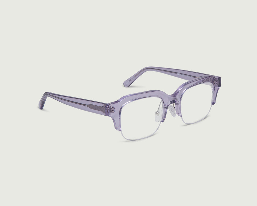 Leonard Eyeglasses rectangle purple acetate front diagonal