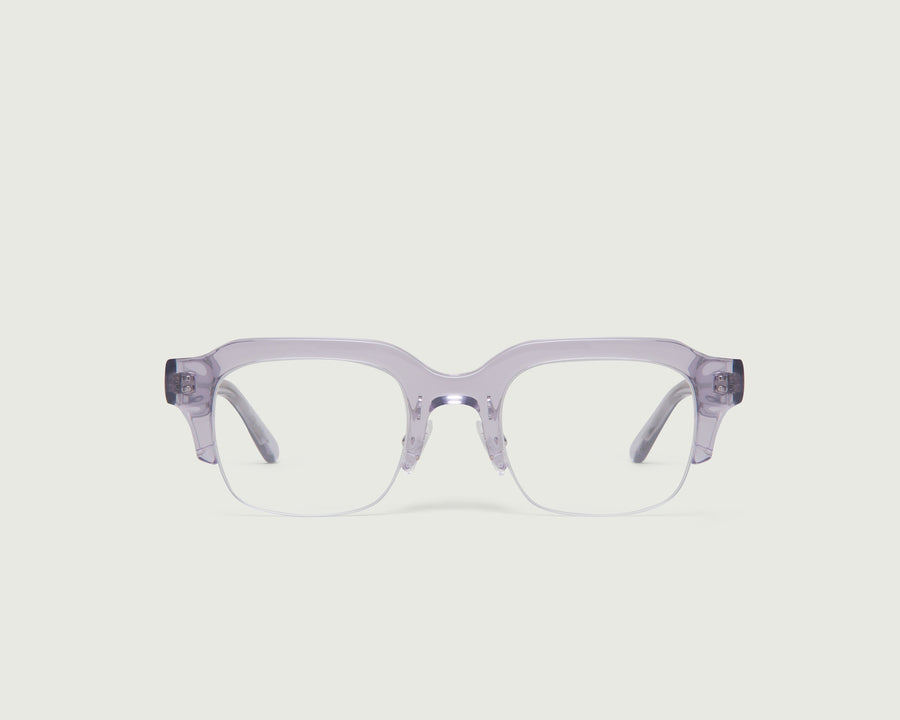 Leonard Eyeglasses rectangle purple acetate front