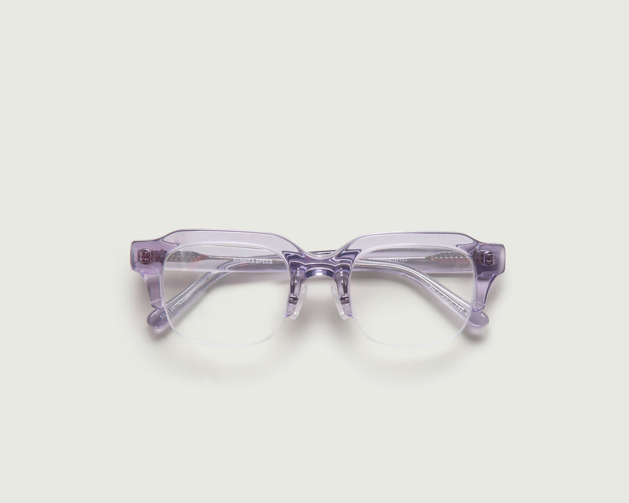 Leonard Eyeglasses rectangle purple acetate top