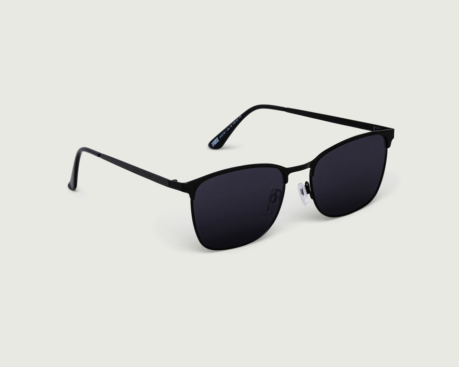 Tate Sunglasses square black metal front diagonal