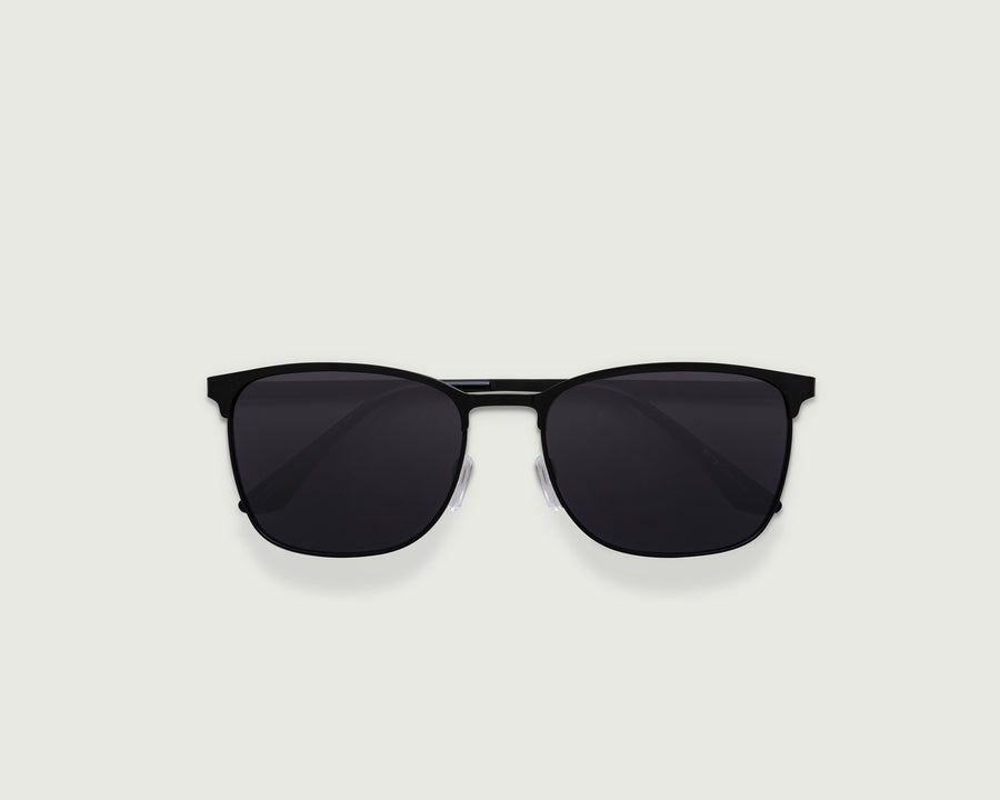 Tate Sunglasses square black metal top