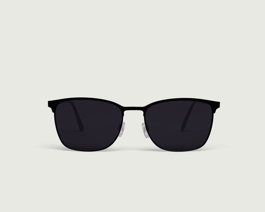 Tate Sunglasses square black metal front