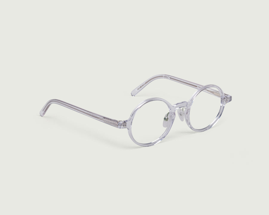 Ono+ Eyeglasses round clear acetate front diagonal