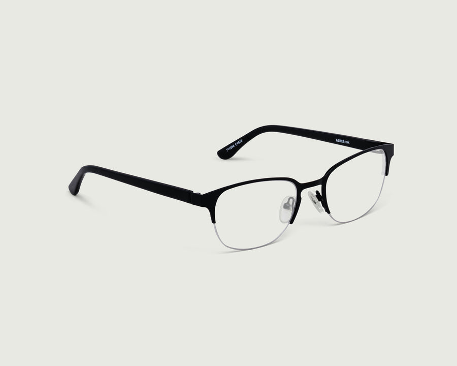 Alber Eyeglasses browline black metal front diagonal