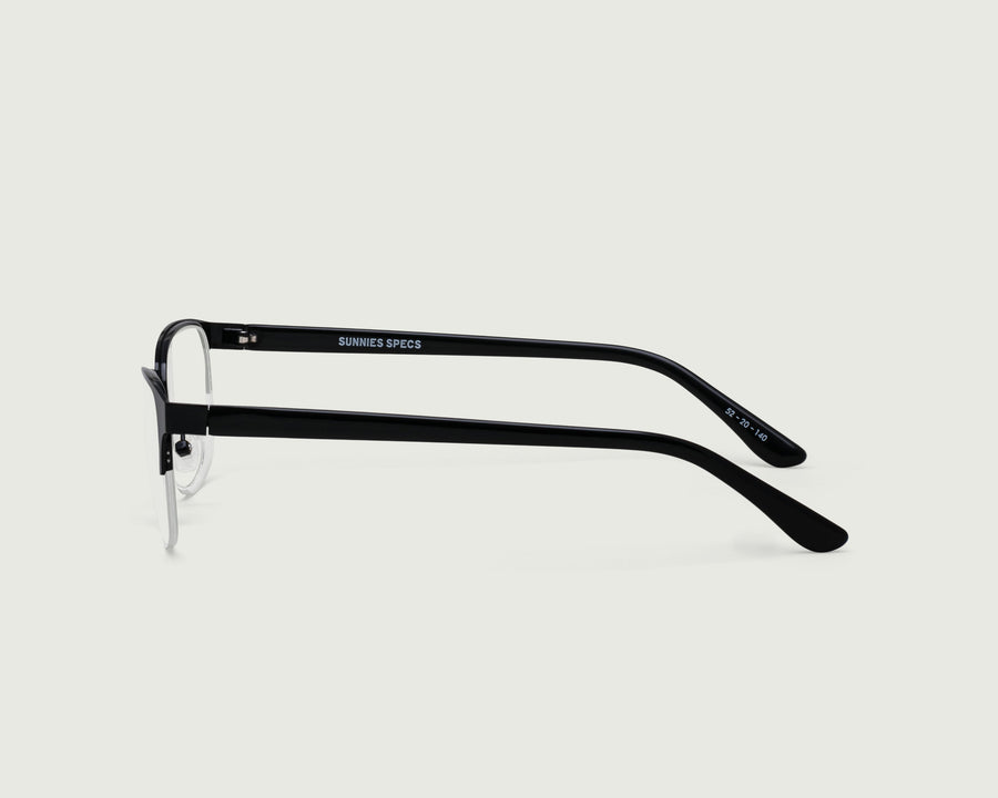 Alber Eyeglasses browline black metal side