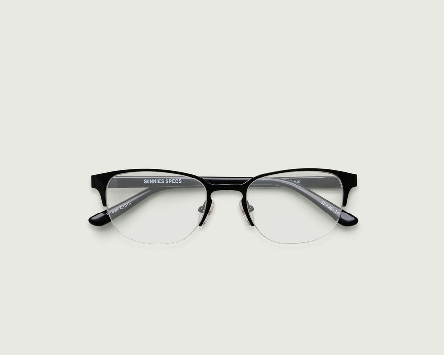 Alber Eyeglasses browline black metal top