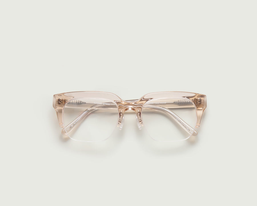 Glenn Eyeglasses square nude acetate top