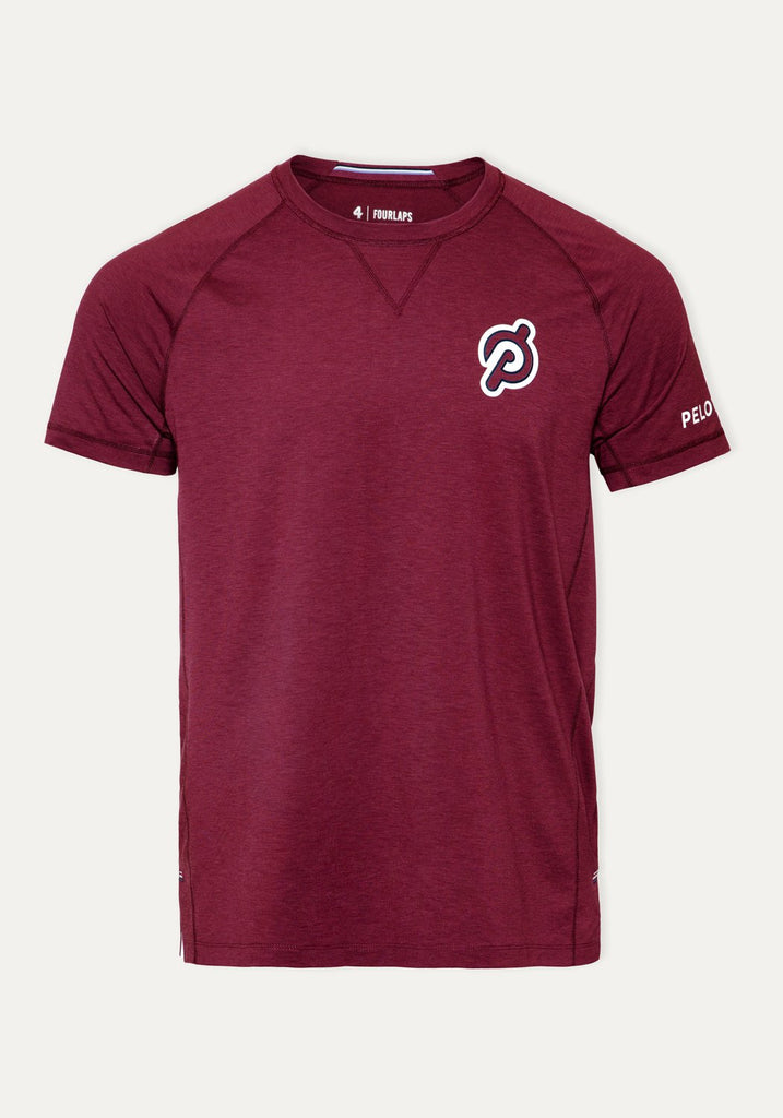 Peloton Short Sleeve Level T-Shirt (Burgunderrote)