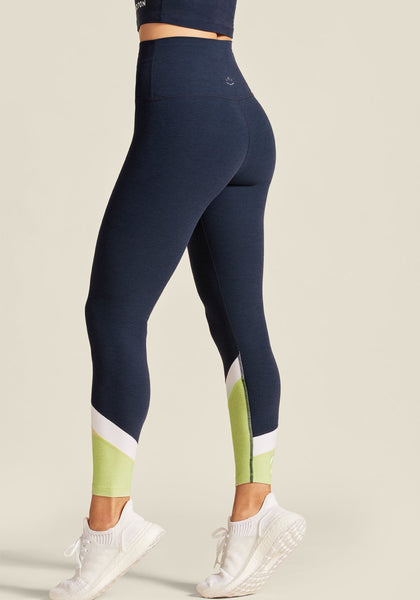 Peloton Mixed Panels High Waisted Midi Legging