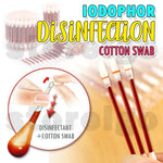 Iodophor Disinfection Cotton Swab (50 pcs)