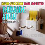 Multi-function Wall Mounted Bedside Shelf with Phone Holder