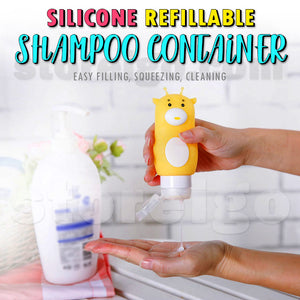Silicone Refillable Shampoo Container